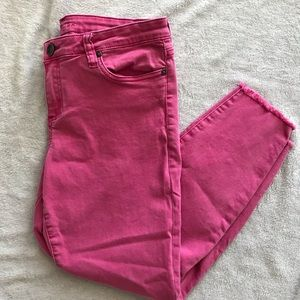 KFTK Connie High Waist Skinny Crop Jeans 12